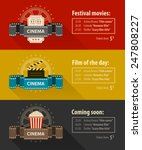 retro cinema banners posters... | Shutterstock .eps vector #247808227