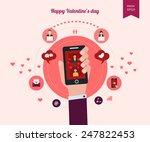 flat design set for icons for... | Shutterstock .eps vector #247822453