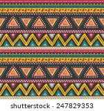vector tribal striped seamless... | Shutterstock .eps vector #247829353