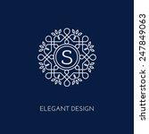 simple and elegant monogram...