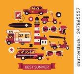 vector modern flat web banner... | Shutterstock .eps vector #247865557