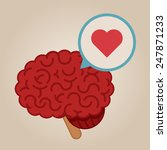 brain concept illustration  love | Shutterstock .eps vector #247871233
