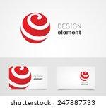 sphere abstract  vector logo... | Shutterstock .eps vector #247887733