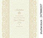 invitation card. wedding... | Shutterstock .eps vector #247888207