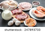 protein diet  raw products on... | Shutterstock . vector #247893733