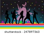 dancing silhouettes   Shutterstock .eps vector #247897363