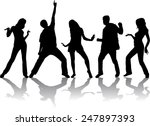 dancing silhouettes | Shutterstock .eps vector #247897393