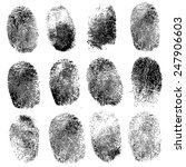 Set Of Fingerprints  Vector...