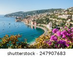 Panoramic View Of Cote D'azur...