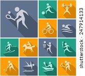 sport flat icons   Shutterstock .eps vector #247914133