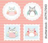 little owls vector   Shutterstock .eps vector #247917043