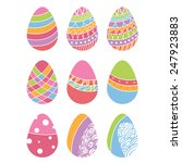 set of easter eggs. vector | Shutterstock .eps vector #247923883