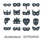 collection of 16 filled... | Shutterstock .eps vector #247924453