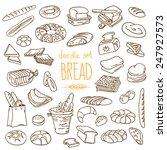 set of various doodles  hand...   Shutterstock .eps vector #247927573