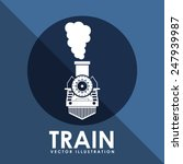 Train Icon Design  Vector...