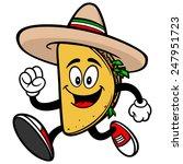 taco running  | Shutterstock .eps vector #247951723