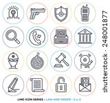 law and order line icons set.  | Shutterstock .eps vector #248001877