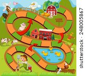 Illustration Of Boardgame With...