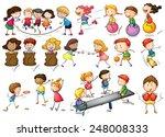 illustration of children... | Shutterstock .eps vector #248008333