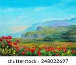 Oil Painting   Poppy Field In...