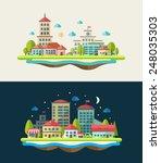 illustration of flat design...   Shutterstock . vector #248035303