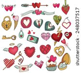 valentine's day hearts icons... | Shutterstock .eps vector #248037517