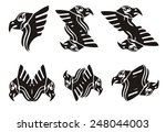 tribal eagle head symbols | Shutterstock .eps vector #248044003