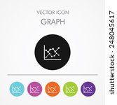 very useful icon of graph on...