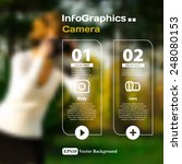 set of infographics with a... | Shutterstock .eps vector #248080153