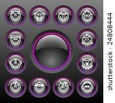 vector smiley icon set