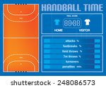 handball court and game... | Shutterstock .eps vector #248086573