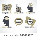 thinking and education vector... | Shutterstock .eps vector #248095993