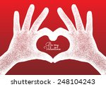 hands in the form of heart.... | Shutterstock .eps vector #248104243