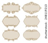 vector set of decorative ornate ... | Shutterstock .eps vector #248119213