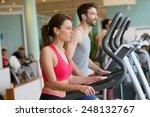couple doing cardio training... | Shutterstock . vector #248132767