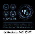 digital countdown timer | Shutterstock .eps vector #248155327