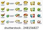 modern cloud company logo set ... | Shutterstock .eps vector #248156827