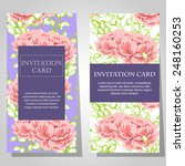 set of invitations with floral... | Shutterstock .eps vector #248160253