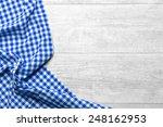 Checkered Tablecloth Blue