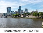 Постер, плакат: London Skyline over the