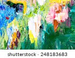 fragment of my painting. oil on ... | Shutterstock . vector #248183683