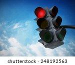 Green Traffic Light Against...