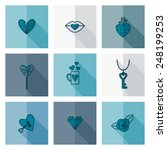 simple flat icons collection...   Shutterstock .eps vector #248199253