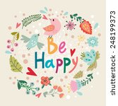 beautiful greeting card with... | Shutterstock .eps vector #248199373