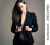 sensual elegant woman beauty... | Shutterstock . vector #248210983