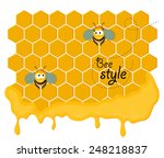 cute pair of smiling bees... | Shutterstock .eps vector #248218837