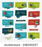 birthday flat banner background ... | Shutterstock .eps vector #248240257
