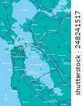 san francisco bay area map  | Shutterstock .eps vector #248241517