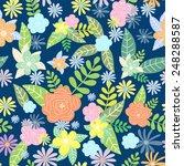 vector cute seamless pattern... | Shutterstock .eps vector #248288587