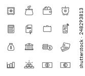 money and finance line icons...   Shutterstock .eps vector #248293813